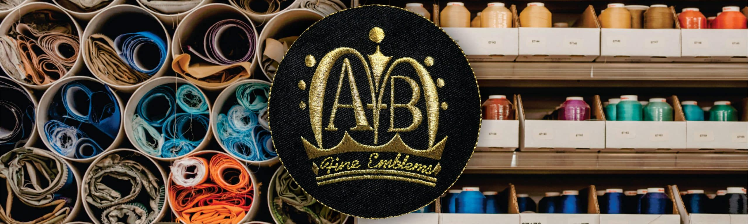 Custom embroidered patches from A-B Emblem showing many styles, colors, sizes and techniques.