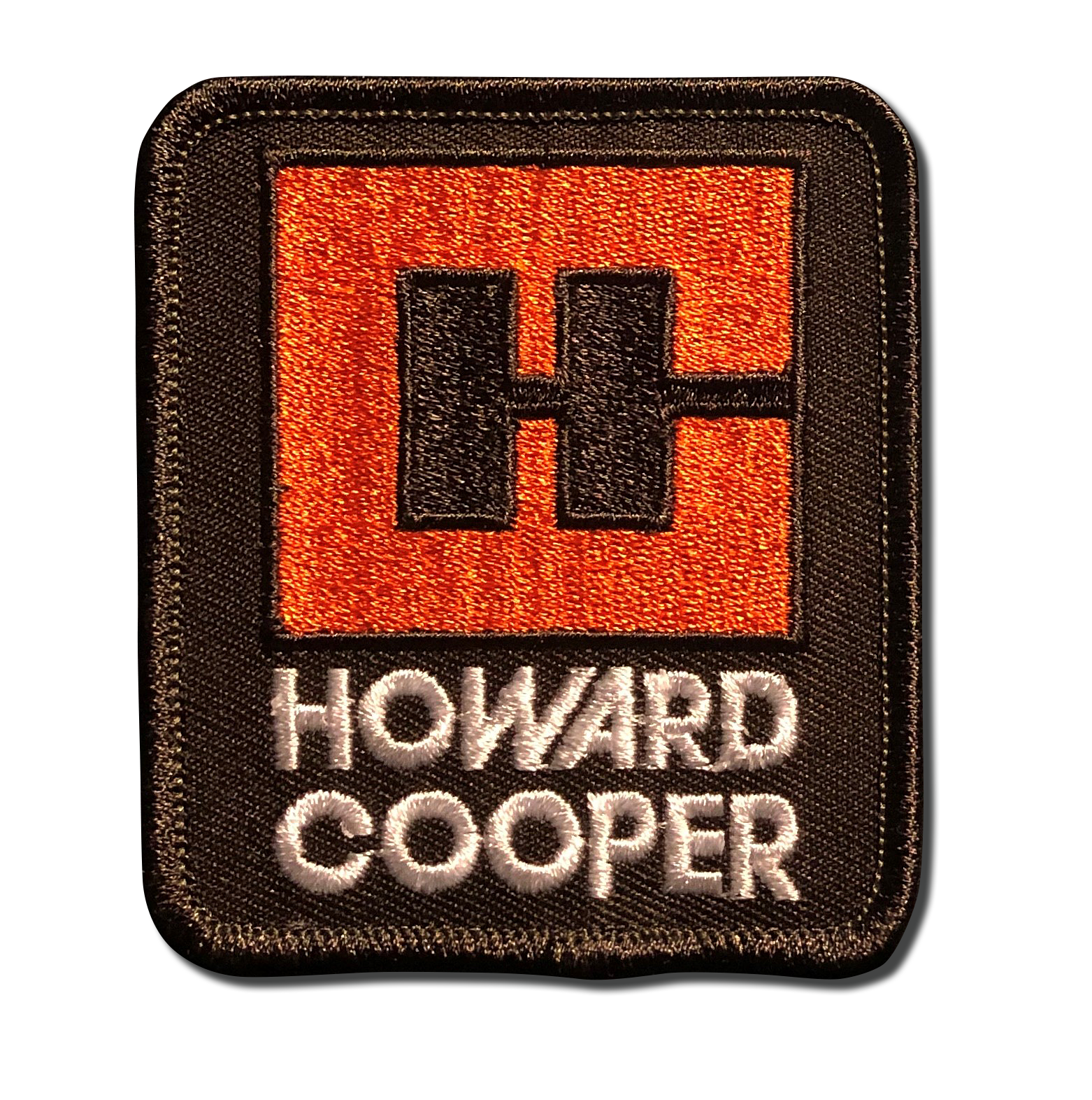 Howard Cooper Patch in Orange and Brown Colors