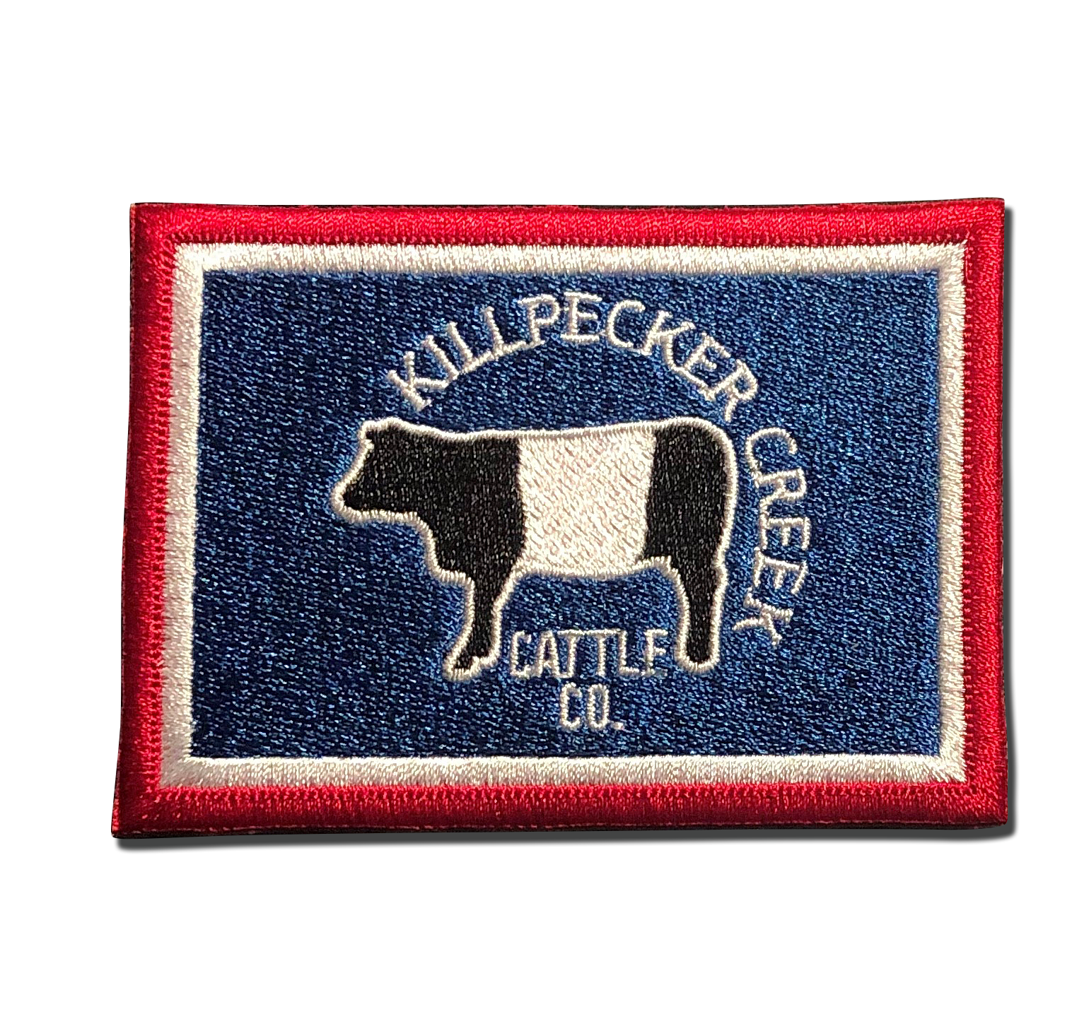 Killpecker Creek Cattle Co. Patch in Red, White and Blue