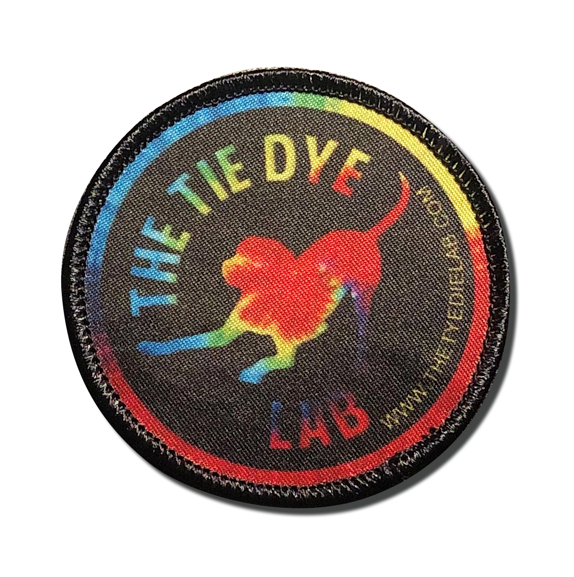 The Tie Dye Lab Photo Patch from A-B Emblem
