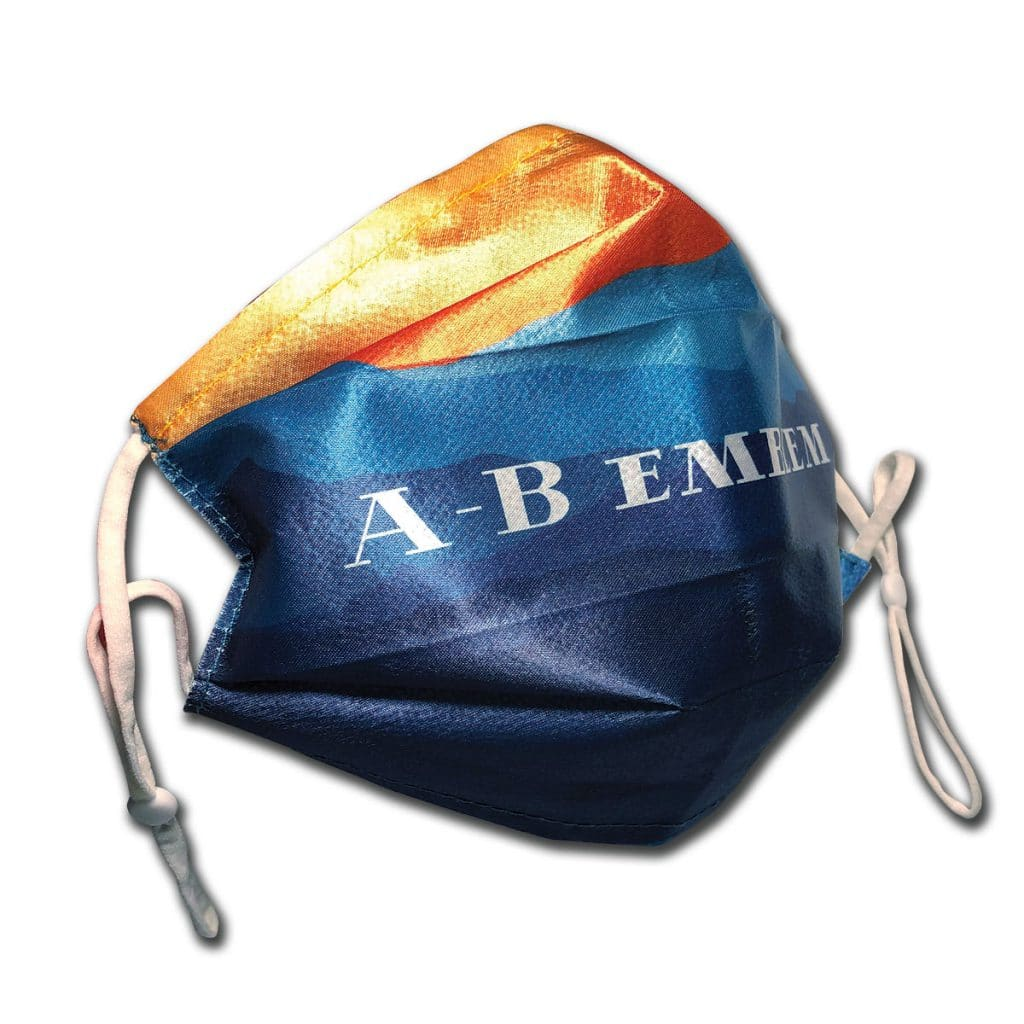 A-B Emblem Custom Printed Cloth Face Mask