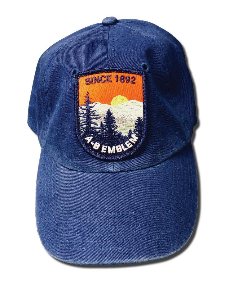 Custom Patch sewn to Twill Cap